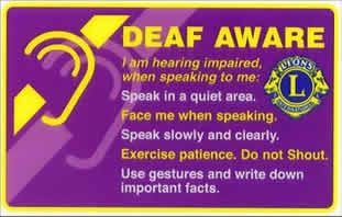deaf aware